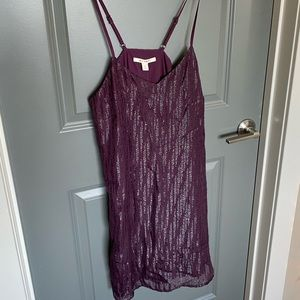 Sassy purple dress with sparkly black sequin!